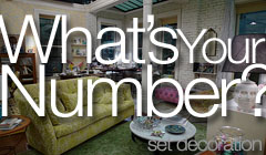 What's Your Number? - Set Decoration by Denise Pizzini